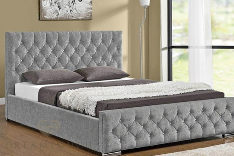 Paris Fabric Bed with Upholstered Frame - 7 Colours and 8 Options!