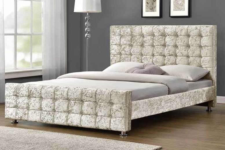 From £169.99 for a hand made Belmond velvet fabric bed from Dreamtouch Mattresses LTD – save up to 66%