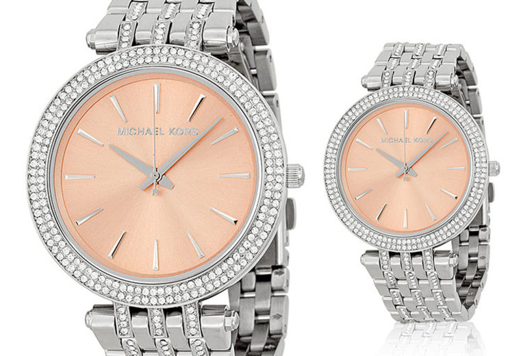 Michael Kors MK3218 Crystal Stainless Steel Rose Ladies Watch