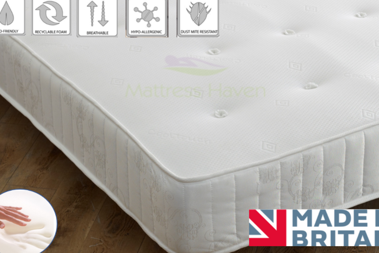 Cool-Touch Memory Sprung Mattress – 4 Sizes! from £49