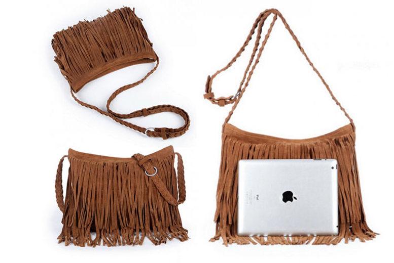 Suede Tassel Handbag – 6 Colours! for £9.99