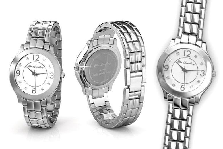 Women's Metallic Watch made with Crystals from Swarovski®