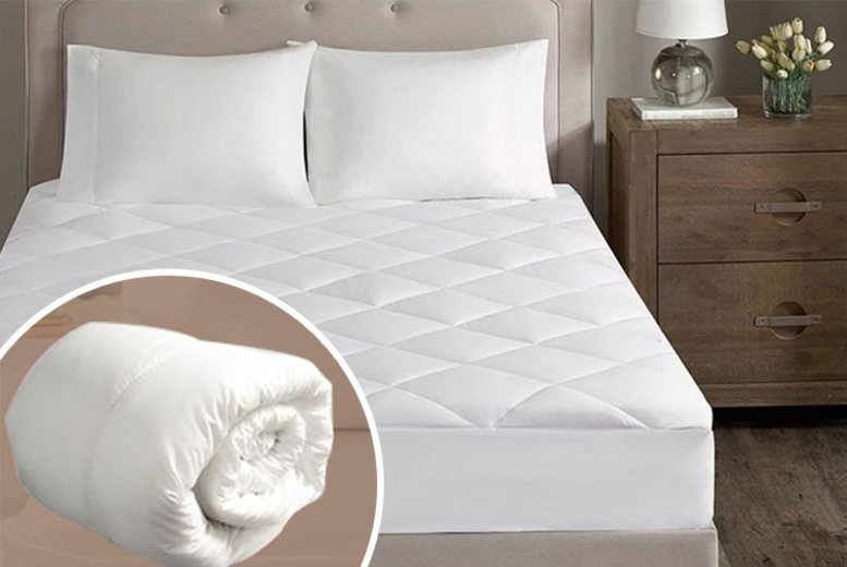 Hollowfibre Mattress Topper & Quilted Mattress Protector - 5 Sizes!