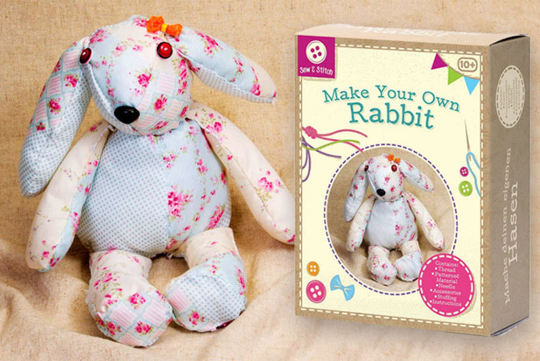 £4.99 instead of £13.61 (from Tobar) for a make your own rabbit sewing kit – save 63%