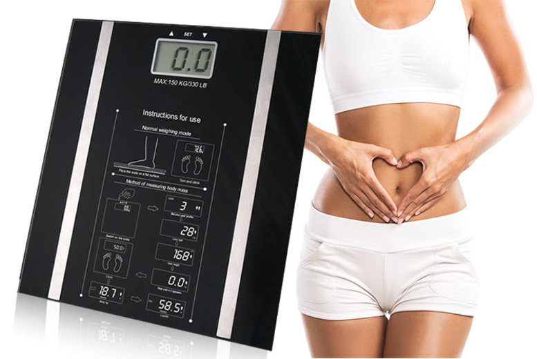 Digital Body Fat Monitoring & Weighing Scales for £9.99