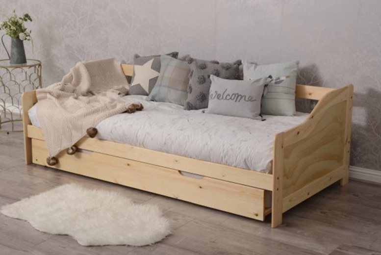 Daybed & Trundle with Optional Mattress – 2 Colours! from £149