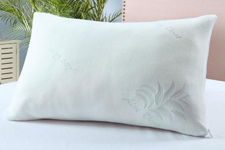 Aloe Vera Memory Foam Pillow – 1 or 2! from £12.99