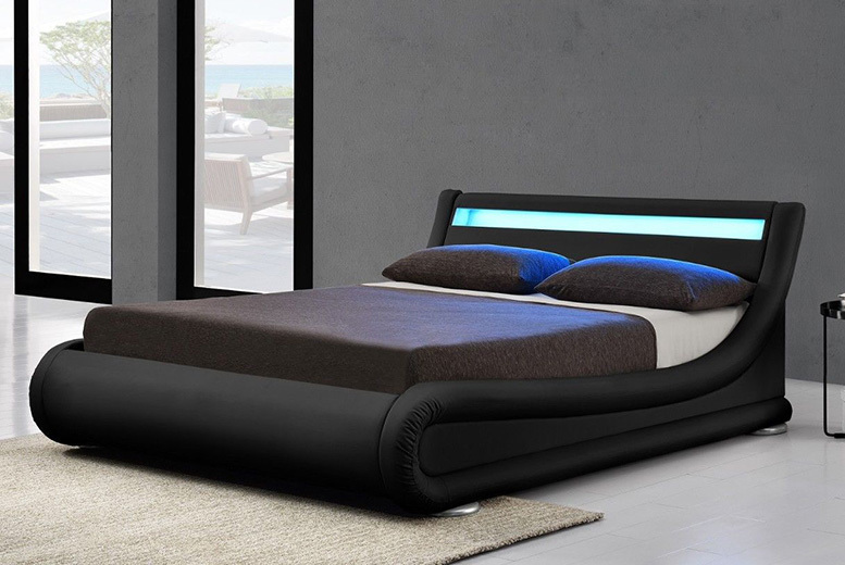 Torino Ottoman LED Bed – 2 Sizes, 4 Colours & Mattress Options! from £279