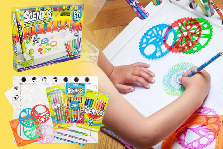 £14.99 (from Tobar) for a 50pc Scentos colouring station!