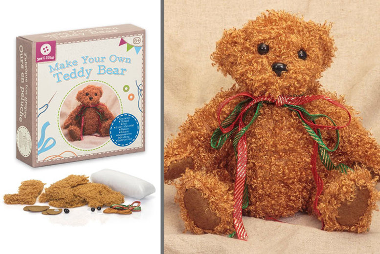 £4.99 instead of £13.32 (from Tobar) for a Make Your Own Teddy Bear set – save 63%