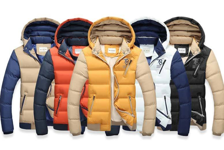 £24 instead of £99.99 (from EFMall) for a stylish men's puffer jacket - choose from five colours and save 76%