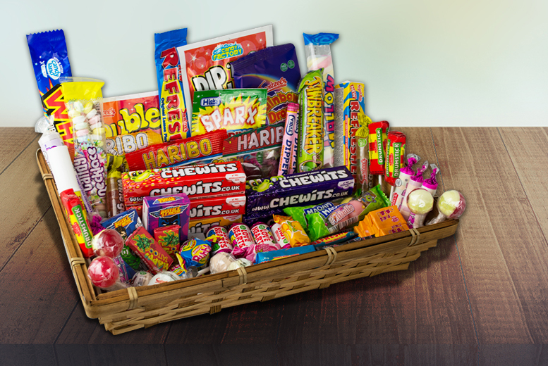 £11 instead of £39.99 for a 1.1kg retro sweet hamper from Gift Mountain - save 72%
