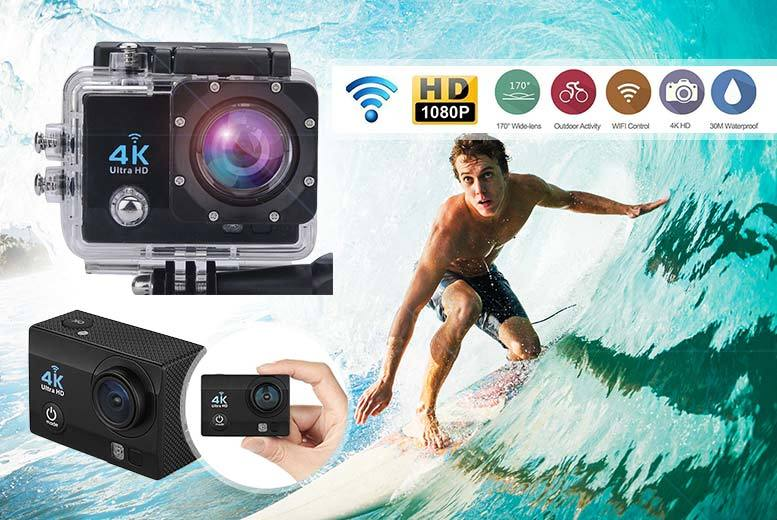 "£39.99 instead of £197.99 (from TLD Retail) for a 4K 2"" ultra HD sports action camera - save 80%"