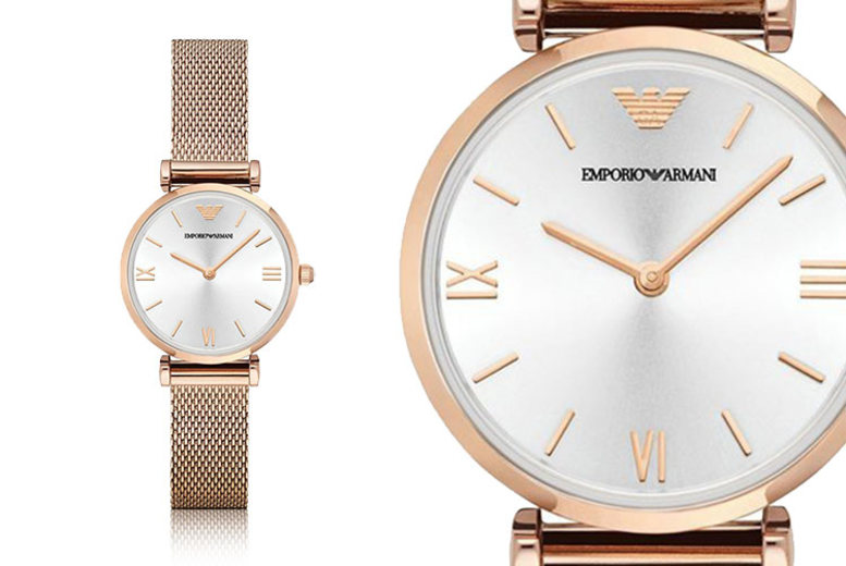 Emporio Armani AR1956 Ladies' Rose Gold Stainless Steel Watch