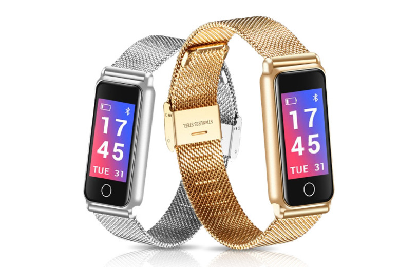 Luxury Fitness Tracker w/ Heart Rate Monitor – 2 Colours! for £19