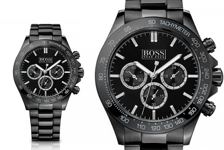 Hugo Boss HB1512961 Black Stainless Chronograph  Steel Men's Watch