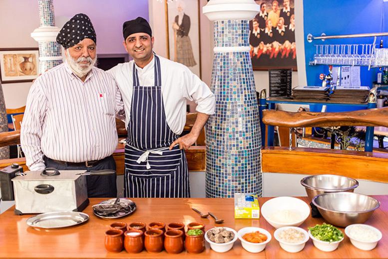 Glasgow: 3-Course Dining for 2 & Pakora Making Workshop @ Mister Singh's for £49