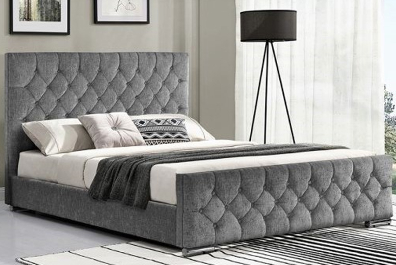 From £169.99 for a Paris fabric bed hand made upholstered bed frame, multiple colours available from Dreamtouch Mattresses LTD – save up to 66%