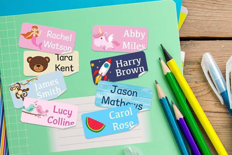 48 Personalised Kids' Name Labels for £3.99