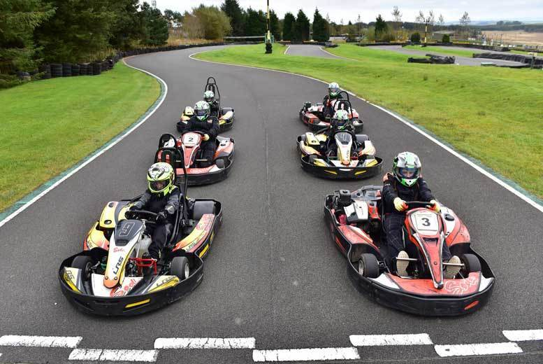Edinburgh: 'Unlimited' Laps Karting for 2 or 4 @ Knockhill Racing Circuit from £27