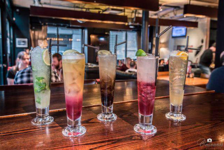 Glasgow: 4 Cocktails & Bar Nibbles for 2 @ Bread + Butter, Glasgow from £10