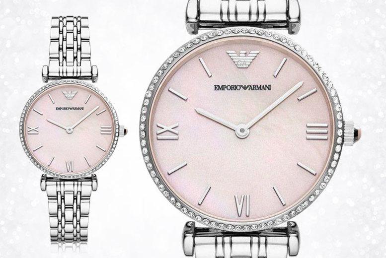 Ladies Emporio Armani AR1779 Lilac Dial Slim Watch