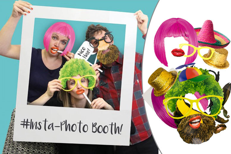 £5 instead of £12.99 (from Shop Sharks) for an Instagram photo booth with 22 props - save 62%