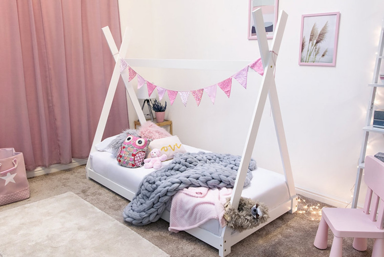 Kids' Tipi Bed Frame – 2 Colours! for £139