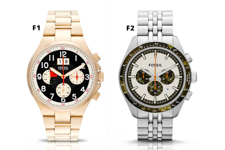Fossil Men's Stainless Steel Watches - 2 Designs!