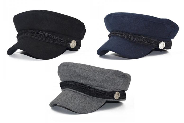 Baker Boy Hat – Black, Grey or Navy! for £4.99