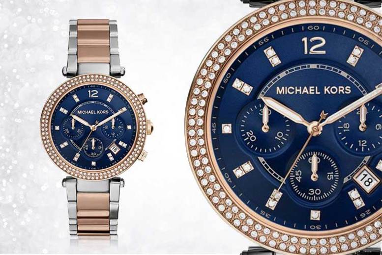 Michael Kors MK6141 Two-Tone Ladies Chronograph Watch