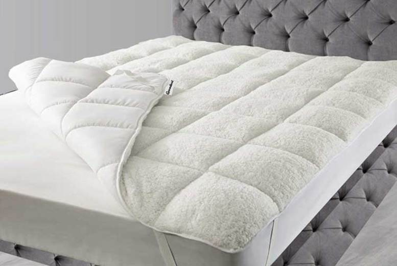 Teddy Fleece Reversible Mattress Topper – 3 Sizes! from £21