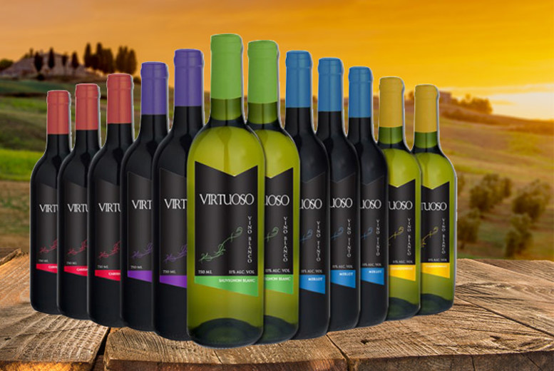 12 Bottles of Wine – Cabernet Sauvignon, Merlot & Sauvignon Blanc! for £34.99
