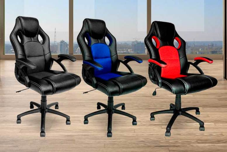 Cushioned Tilting Office Chair – 3 Colours! for £49