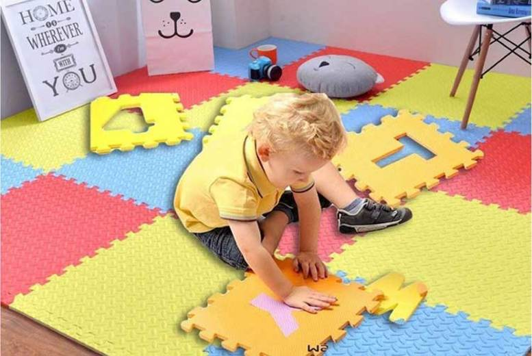 16 x Interlocking Soft Foam Floor Mats for £24.99