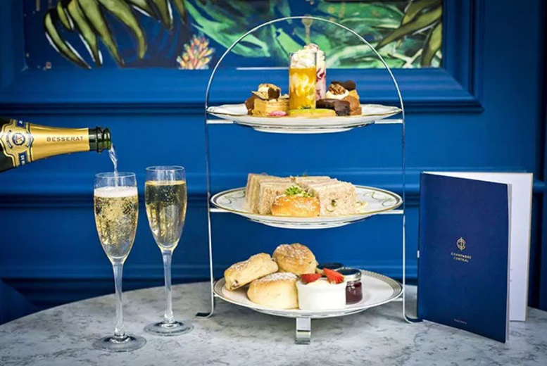 Glasgow: Afternoon Tea for 2 or 4 @ 4* Grand Central Hotel – Champagne Upgrade! from £22