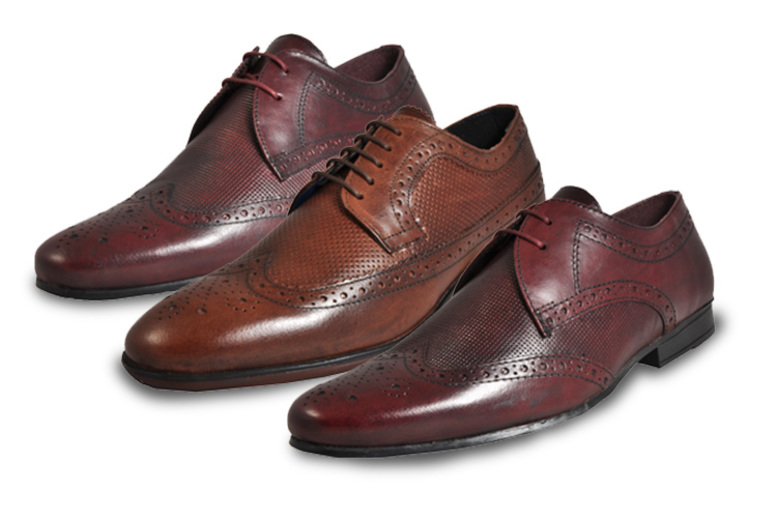 Red Tape Real Leather Vintage Brogue Shoes – 3 Designs & 5 Sizes! for £14.99