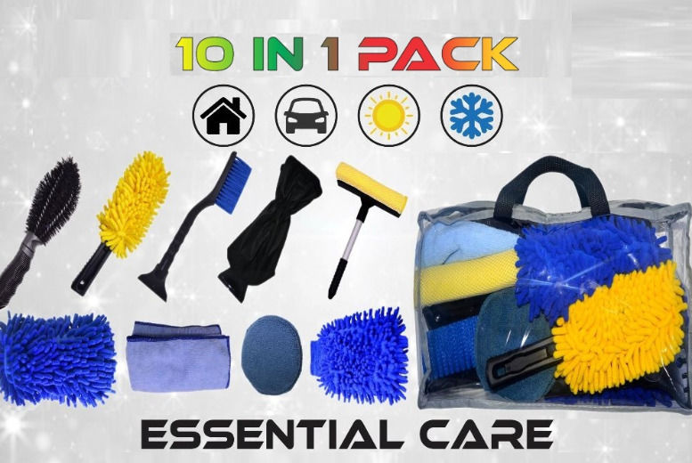 10pc Home & Car Cleaning-Care Kit for £11