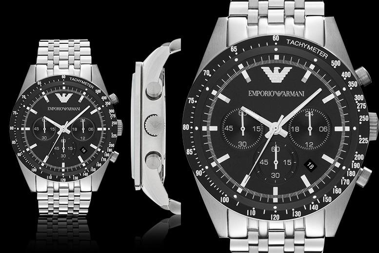 Emporio Armani AR5988 Stainless Steel Men's Chronograph Watch