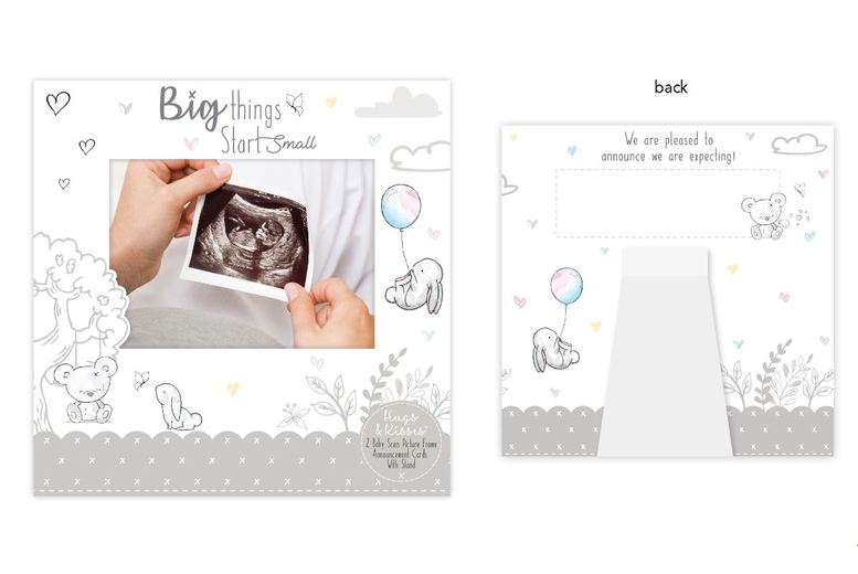 2 Baby Scan Announcement Cards for £4.99