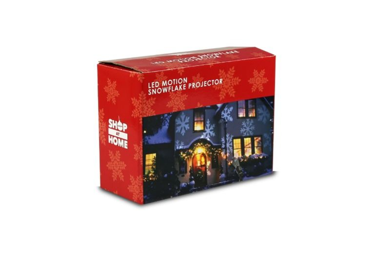 Snow Falling LED Rotating Snowflake Projector for £13.99