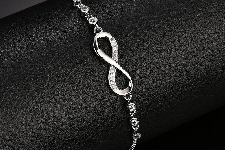 Crystal Adjustable Infinity Bracelet for £14.99