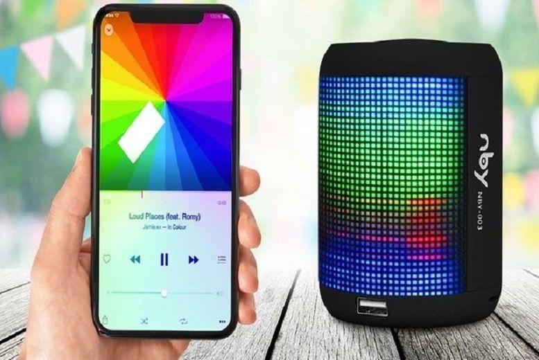 Portable LED Light Speaker – 4 Colours! for £12.99