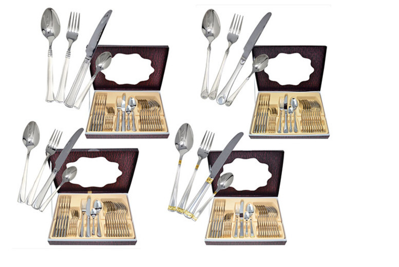 24pc Cutlery Set – 4 Designs! for £19.99