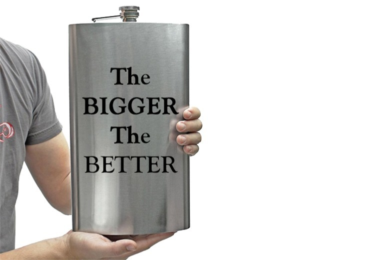XL 1.7L Stainless Steel Novelty Hip Flask for £7.99