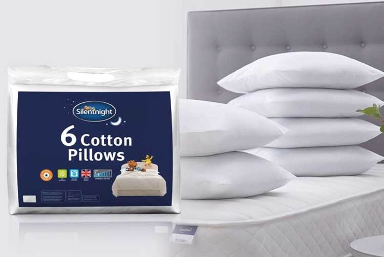 Pack of 6 Silentnight Cotton Pillows