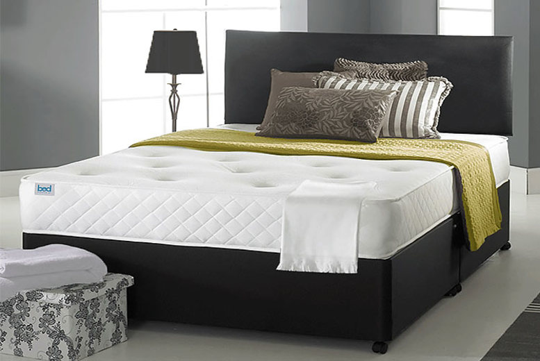 Faux Leather Ortho Divan Bed w/ Mattress & Drawer Options – 6 Sizes!