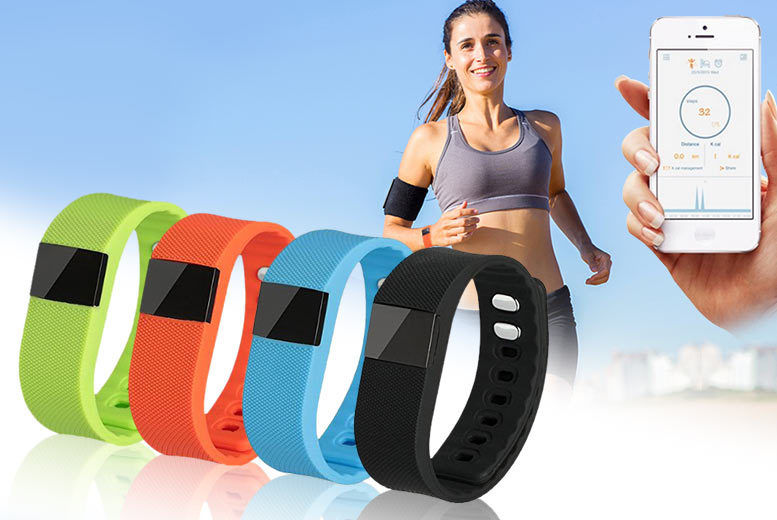 £12 instead of £149.99 for a TW64 smart Bluetooth fitness bracelet – choose from six colours and save 80%