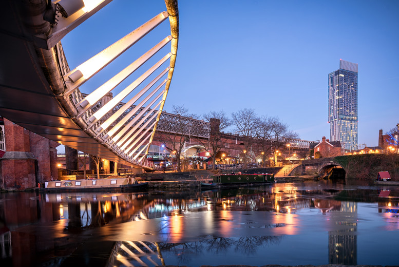 From £69 (at City Stop Manchester) for a Manchester City Centre stay for two people with Prosecco and late check-out, from £99 for four people – save up to 49%