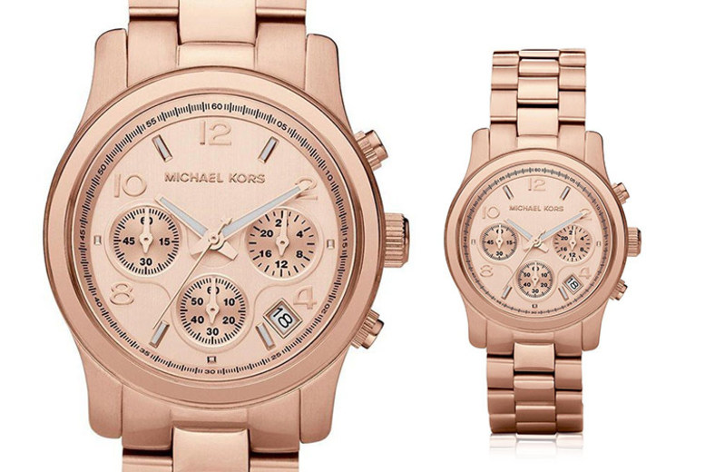 Michael Kors MK5128 Ladies Rose Gold Runway Watch